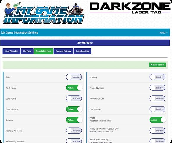 Zone Laser Tag Membership - Kiosk