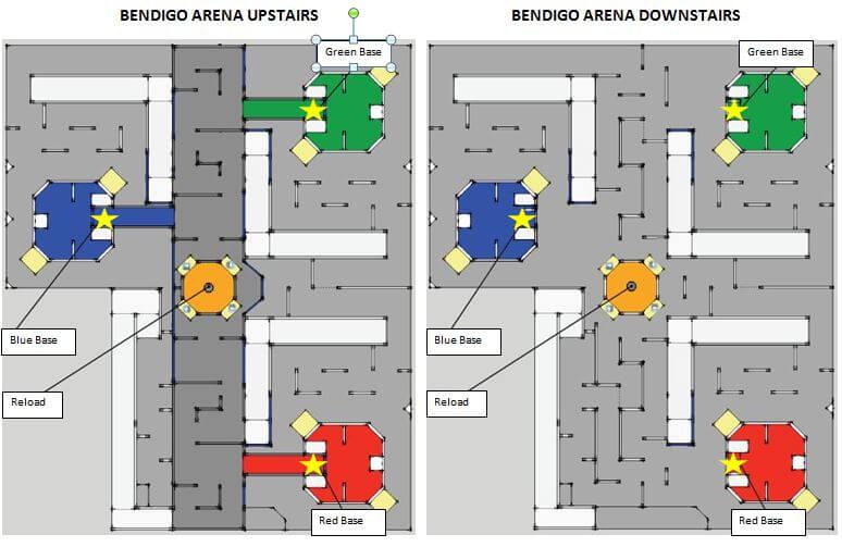 Laser Tag Bendigo Map
