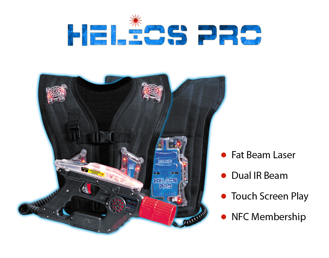 Laser Tag Equipment Helios PRO - is a Fat Beam Laser, Dual IR Beam, Touch Screen Play, NFC Membership - zone laser tag products, laser tag software, laser tag system, laser tag equipment, laser tag wholesaler, laser tag manufacturing, zone laser tag, laser tag